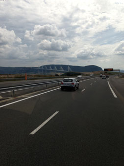 Stone family Euro Tunnel on route to South of France via the Millau Bridge France